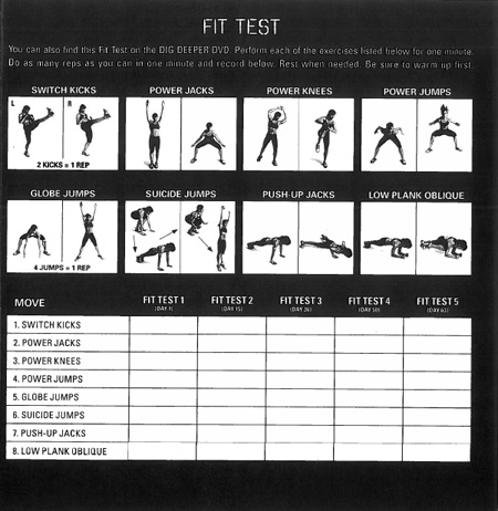 Insanity Fit Test – ... P90x Workout Sheets